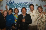 Hannah Kropf, Jose Duarte, Borja Irastorza, ISA Vice President Karin Sierralta,  Carlos Escaba and Harrison Robbs