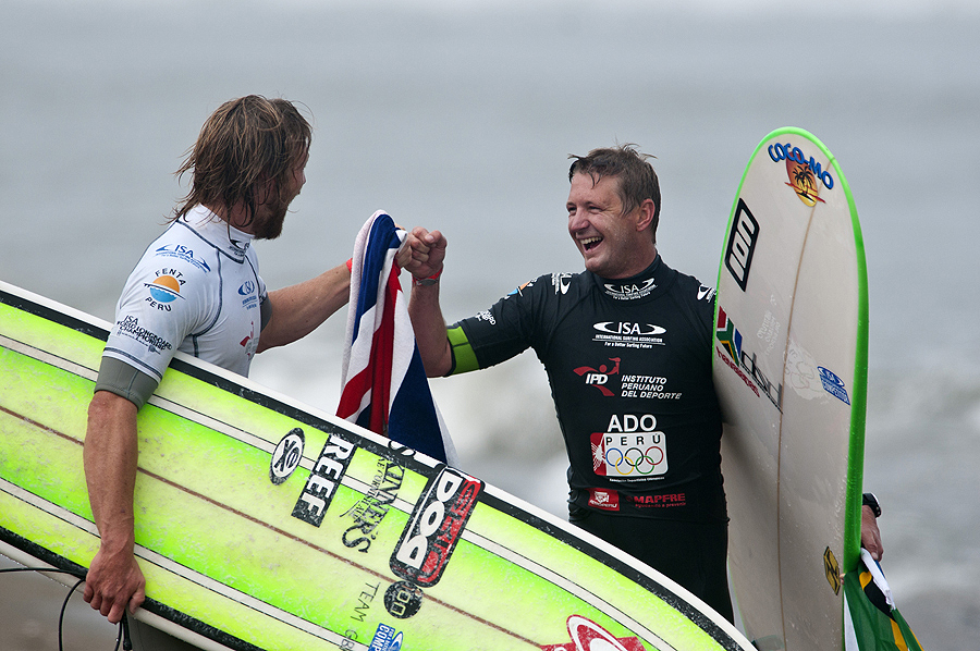Ben Skinner from GBR and Thomas King fro RSA. Credit: ISA/ Rommel Gonzales