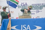 Justin Bing and Simone Robb from Team South Africa. Credit: ISA/ Rommel Gonzales