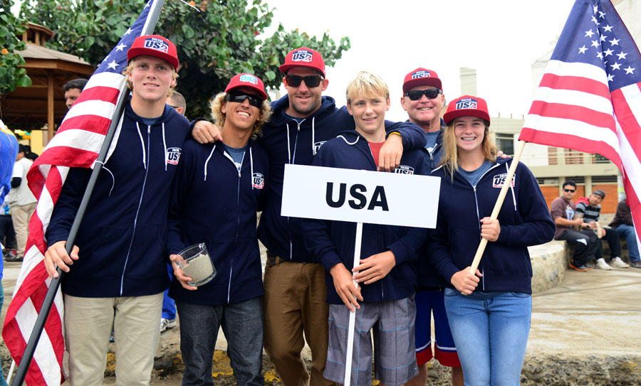 Team Usa. Credit: ISA/ Michael Tweddle