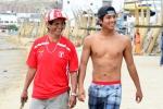 Santos and Juninho Urcia. Credit: ISA/ Michael Tweddle