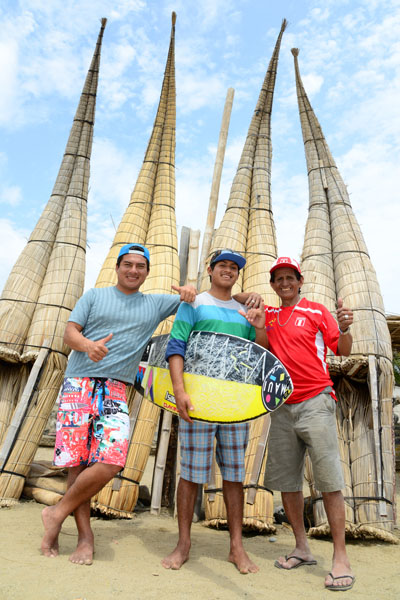 Totora Raft Family. Credit: ISA/ Michael Tweddle