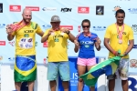 Team Brazil Copper Medal 2013 ISA World Longboard Championship. Credit: ISA/ Michael Tweddle
