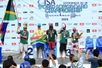Team South Africa Silver Medal 2013 ISA World Longboard Championship. Credit: ISA/ Michael Tweddle