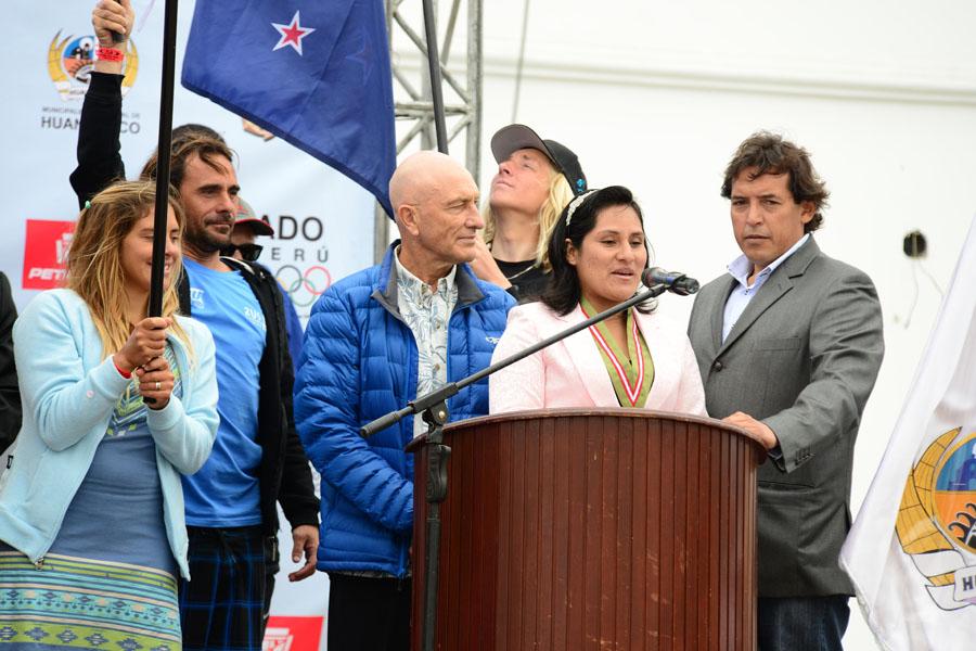 Huanchaco Mayor Dealia Mestanza. Credit: ISA/ Michael Tweddle